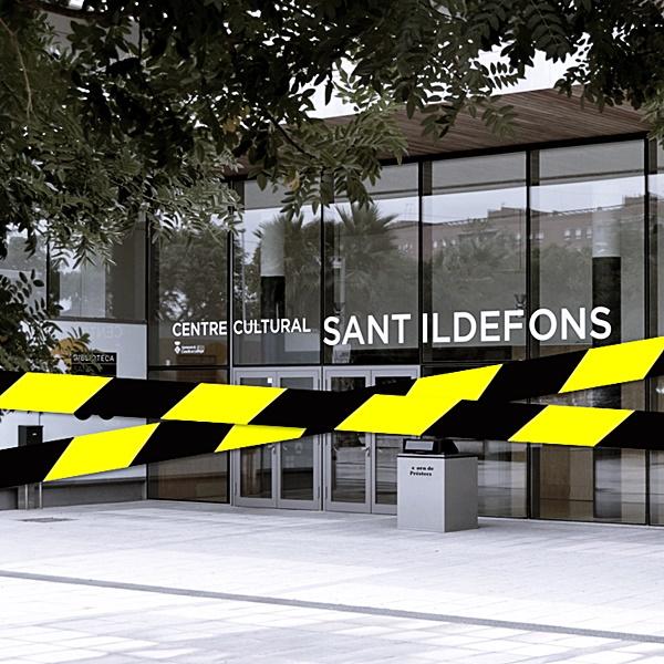 Tancament temporal de la Biblioteca Sant Ildefons